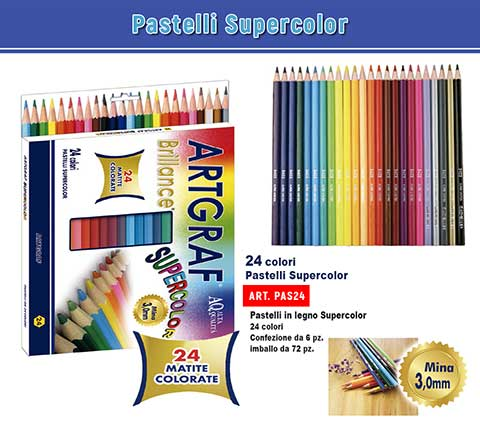 Pastelli Supercolor 24